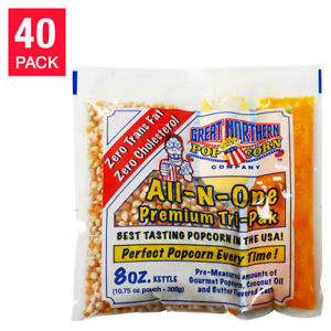 Great Northern Un popped Popcorn 8 Oz 40 pack