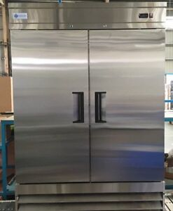 A c e Commercial Reach in Freezer 47 Cuft Stainless Steel Double Solid Door