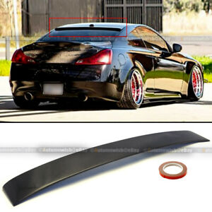 For 08 16 G37 Coupe 2dr Custom Made Real Carbon Fiber Rear Roof Wing Spoiler