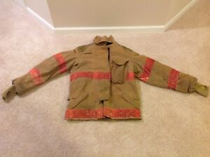 42 X 32l Firefighter Jacket Coat Bunker Turn Out Gear Janesville Union Missouri