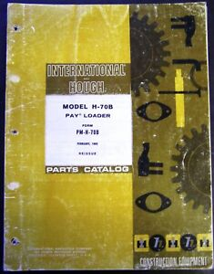 International Harvester Hough Payloader H 70b Parts Manual