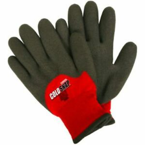 Cordova Stanley Cold Snap Max Safety Gloves 2 ply Red Nylon Size Large 3905