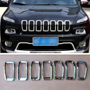 Abs Front Grille Inserts Mesh Grill Accessories For Jeep Cherokee 2016 2017 2018