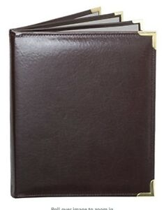 Menucoverman Case Of 5 Menu Covers 6 View 8 5x11 Brown