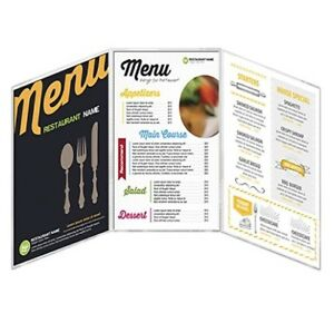 Menucoverman Case Of 24 Menu Covers 8 5 Wide X 14 Tall Clear Vinyl