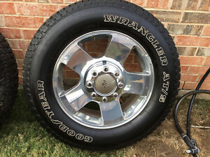 Ford Oem 2006 King Ranch 20 Rims Wheels And Goodyear Wrangler Tires 2756520