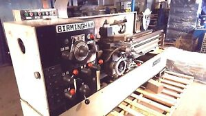 Birmingham Lm 1660 Gap Bed Lathe 16 Swing X 60 Between Centers