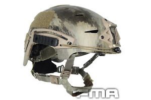 FMA Tactical Protective ABS A-TACS Camo Helmet NEW TB791 For Paintball Airsoft