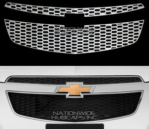 Fits 2011 2014 Chevrolet Cruze Chrome Snap On Front Grille Overlay Insert Covers