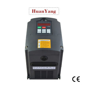 Huan Yang Brand 110v 1 5kw Inverter 2hp 7a Vfd Variable Frequency Drive Cnc