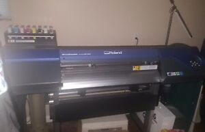 Mint Condition Roland Vs300 Print Cut Printer 2 Years Old With 2 Heat Press