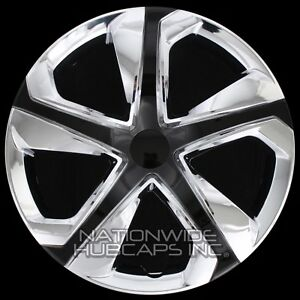 16 Set Of 4 Chrome Black Wheel Covers Snap On Hub Caps Fit R16 Tire