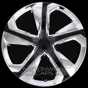 16 Set Of 4 Chrome Black Wheel Covers Snap On Hub Caps Fit R16 Tire Steel Rim