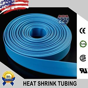 100 Ft 100 Feet Blue 1 25mm Polyolefin 2 1 Heat Shrink Tubing Tube Cable Us Ul