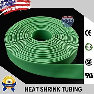 100 Ft 100 Feet Green 1 4 6mm Polyolefin 2 1 Heat Shrink Tubing Tube Cable Us