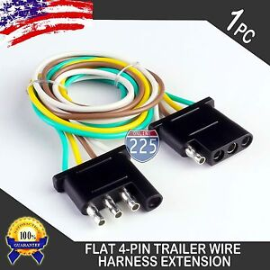 6ft Trailer Light Wiring Harness Extension 4 Pin Plug 18 Awg Flat Wire Connector