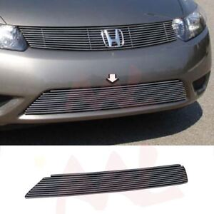 Aal For 2006 2007 2008 Honda Civic Coupe Bumper Billet Grille Insert
