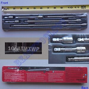 New Snap On 1 4 Drive Wobble Plus Ratchet Extension 6 Pcs Set 106atmxwp Usa