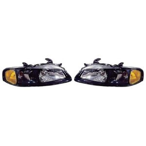 Fits 2002 2003 Nissan Sentra Se R Spec V Headlight Pair Nsf Ni2502141