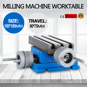 Milling Machine Worktable Cross Slide Table 4 x7 3 Drilling Multifunction Bench
