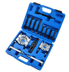 14pcs Bearing Separator Puller Set 2 And 3 Splitters Remover Bearings Kit Tool