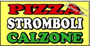 choose Your Size Pizza Stromboli Calzone Decal Concession Food Truck
