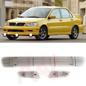 Aal 2002 2003 Mitsubishi Lancer 3pcs Billet Grille Bolt On