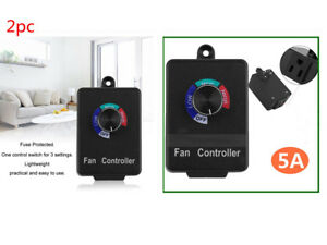 2x Universal Router Air Duct Fan Variable Speed Controller Electric Motor Alm