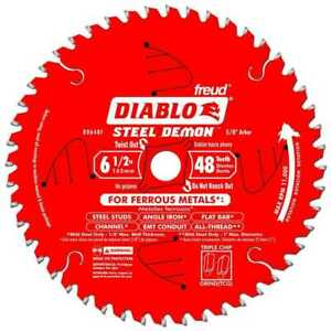 Diablo D0648f 6 1 2 X 48t Steel Demon Tcg Ferrous Circular Saw New