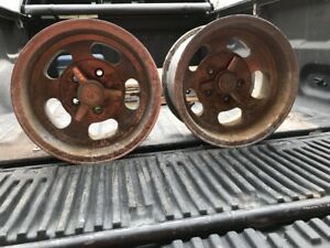 14x8 14 X 8 U s Indy Mag Vintage Wheel Pair 4 3 4 Bolt Pattern Trans Am