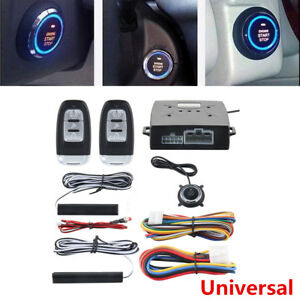 Car Engine Ignition Start Keyless Entry Push Button Remote Alarm Security System