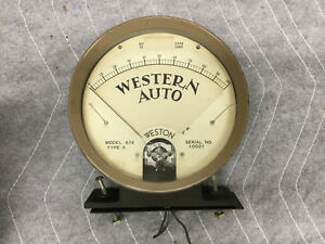 Vintage Weston Model 674 type 3 Electrical Meter with western Auto Logo