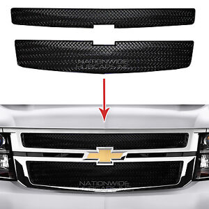 2015 2018 Chevy Tahoe Suburban Black Snap On Grille Overlay Grill Covers Inserts