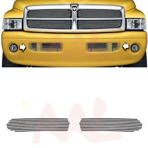 Aal 1999 2001 Dodge Ram Sport Bumper Billet Grille Insert Replacement