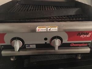 Champion Cook Series Grill Commercial Restaurant Heavy Duty Nat Lp Gas Used