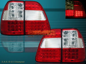 1998 2005 Toyota Land Cruiser Red Led Tail Lights Rear Lamps Left Right New