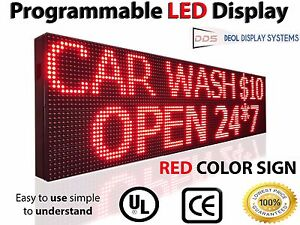 13 x125 Outdoor Led Signs Red Scrolling Electronic Business Message Boards Open