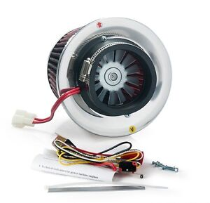 Tansky Electric Turbo Supercharger Kit Air Filter Intake For All Cars