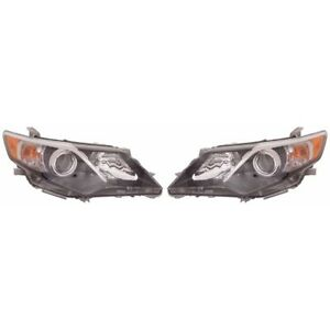 Fits 2012 2013 2014 Toyota Camry Se Sport Headlight Pair Nsf To2502212