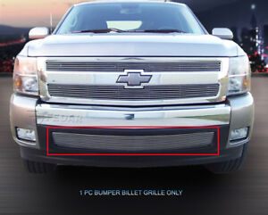 Polished Billet Grille Overlay For 2007 2013 Chevy Silverado 1500 Long