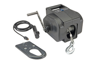 2000 Lb Marine Electric Winch Compact Portable Trailer Boat Watercraft Loading