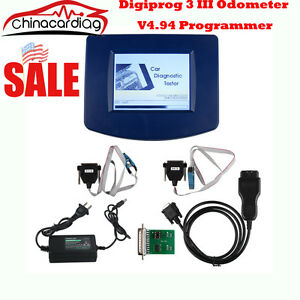 Usa Main Unit Of Digiprog Iii New V4 94 Odometer Programmer With St01 St04 Cable