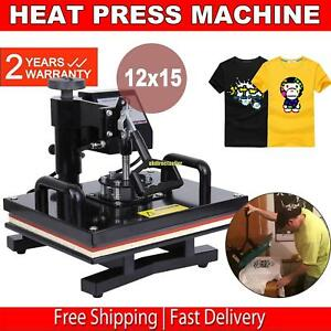 15 x12 Swing Away Digital Heat Press T shirt Transfer Sublimation Machine