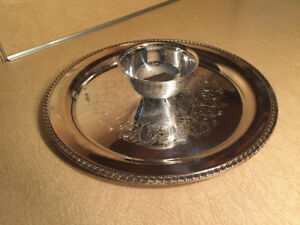 Wm A Rogers By Oneida Silversmith Chip And Dip Serving Tray Vintage