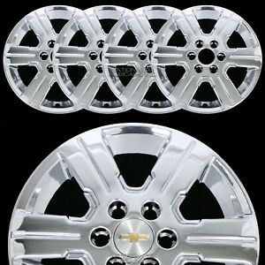 4 New 09 16 Chevy Traverse 18 Chrome Wheel Skins Hub Caps Full Alloy Rim Covers