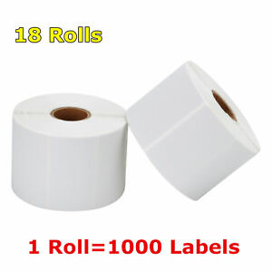 18 Rolls 2 25x1 25 Direct Thermal Barcode Labels 1000 roll Zebra Lp2824 Lp2844