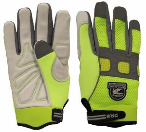 Gatorback 635 High viz Goat Skin Leather Work Gloves Safety Professional Gloves