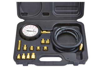 Engine Oil Pressure Test Kit Diagnose Diesel Gasoline Brass Adapters Tough Auto