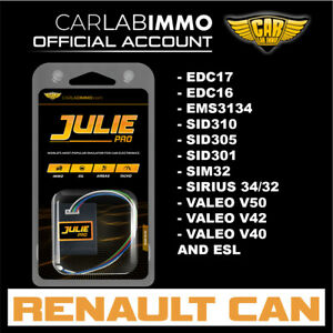 Renault With Can Immo Off With Julie Pro Emulator Sid310 Sid305 Edc17