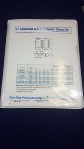 new Fair rite 31 Material Round Cable Snap its Ferrite Bead Kit P n 0199000030